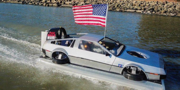 DeLorean replica hovercraft is up for sale on eBay